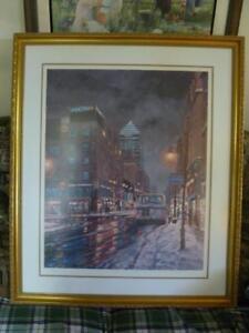 Peinture del Signore du centre ville de Montréal