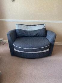 2 Seater Swivel Love Seat