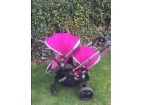 ***Pushchair ICandy peach 3 double **fuschia **used only 1 years u***2016