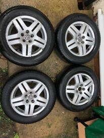 Golf mk4 alloys with good tyres