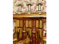 Nearly new Yamaha brass trumpet