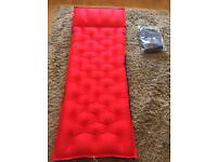 X2 single brand new flocked air bed / inflatable mattresses and double sleeping bag
