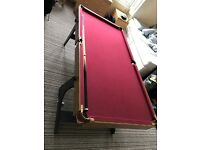 5ft Snooker and Pool Table only 2 years old £50