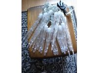 BRAND NEW Never Used 24 Giant XMAS Outdoor Icicle Lights with Transformer inc Timer & 8 Functions