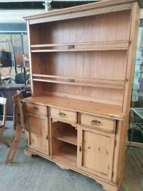 Solid pine Welsh dresser in excellent condition