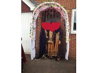 Decorated Wedding Garden Arch