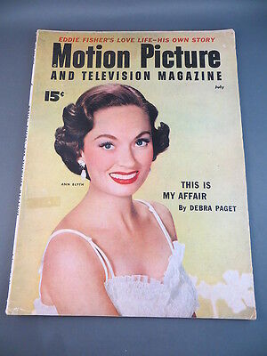Vintage 1954 July MOTION PICTURE Magazine Full Issue ANN BLYTH Cover