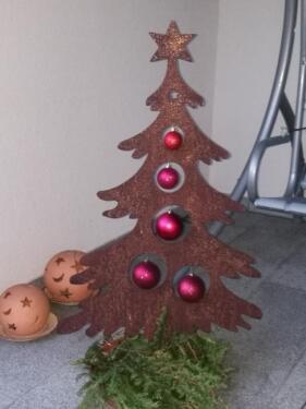 Tannenbaum Edelrost.Edelrost Rost Gartenstecker Baum Tannenbaum Christbaum