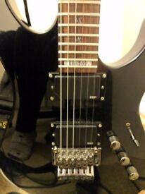 Electric Guitar LTD KH202 (KirkHammet from Metallica) + gigbag, various accessories