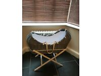 Moses Basket (Grey) & Accessories