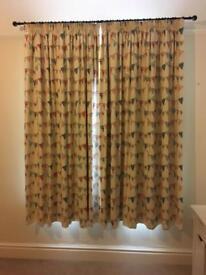 Set of Girls Bunting design bedroom curtains