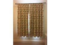 Set of Girls Bunting design bedroom curtains