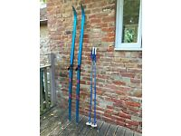 Vintage Cross Country Skis and Poles