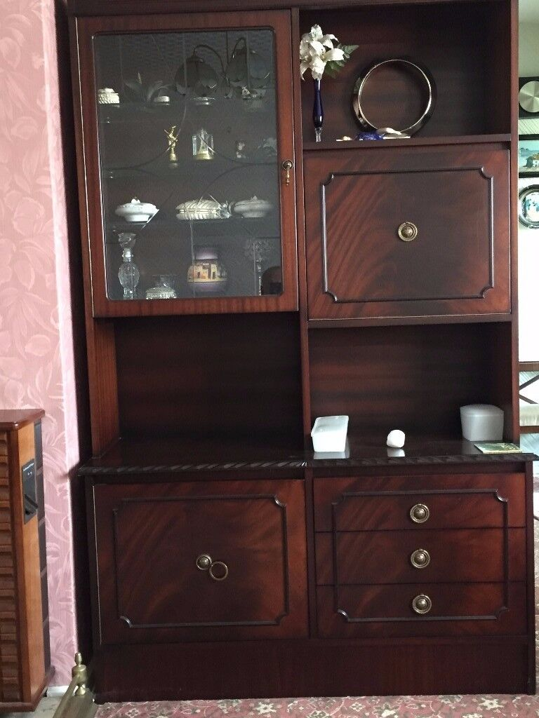 Display Cabinet With Pull Down Drinks Cabinet Shelves