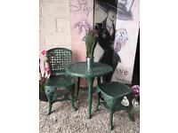 New Garden Patio set Chair Table and Stool