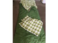 Vango Aurora Single Sleeping Bag with pillowcase and bag - in good condition