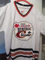 Original Heritage Classic Oilers vs Canadiens Jersey Collectible