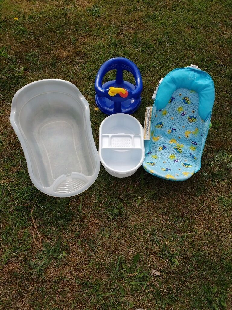 Contemporary Baby Bath Seat Blue Motif - Bathtubs For Small ...