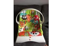 Vibrating baby chair bouncer
