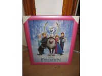 BRAND NEW DISNEY FROZEN PINK FRAMED PICTURE ideal for princess bedroom - like Amazon one for £30!