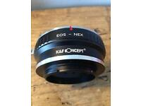 EOS to E Mount ring adapter
