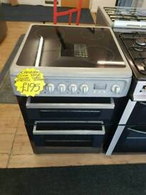 CANNON 60CM ELECTRIC DOUBLE OVEN COOKER IN WHITE