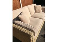 Marks and Spencer conservatory sofa and side table