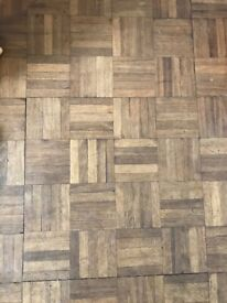Parquet floor. Reclaimed Antique Solid wood £10 metre