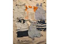 Boys Newborn clothes bundle