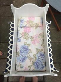 Freshly Hand Painted Toy Cot