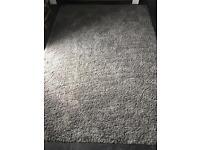 2 x large grey ikea rugs