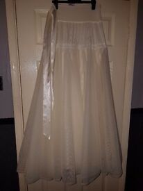 Bridal hoop/ petticoat 3 layers lace trimmed