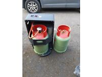 Portable gas heater with gas