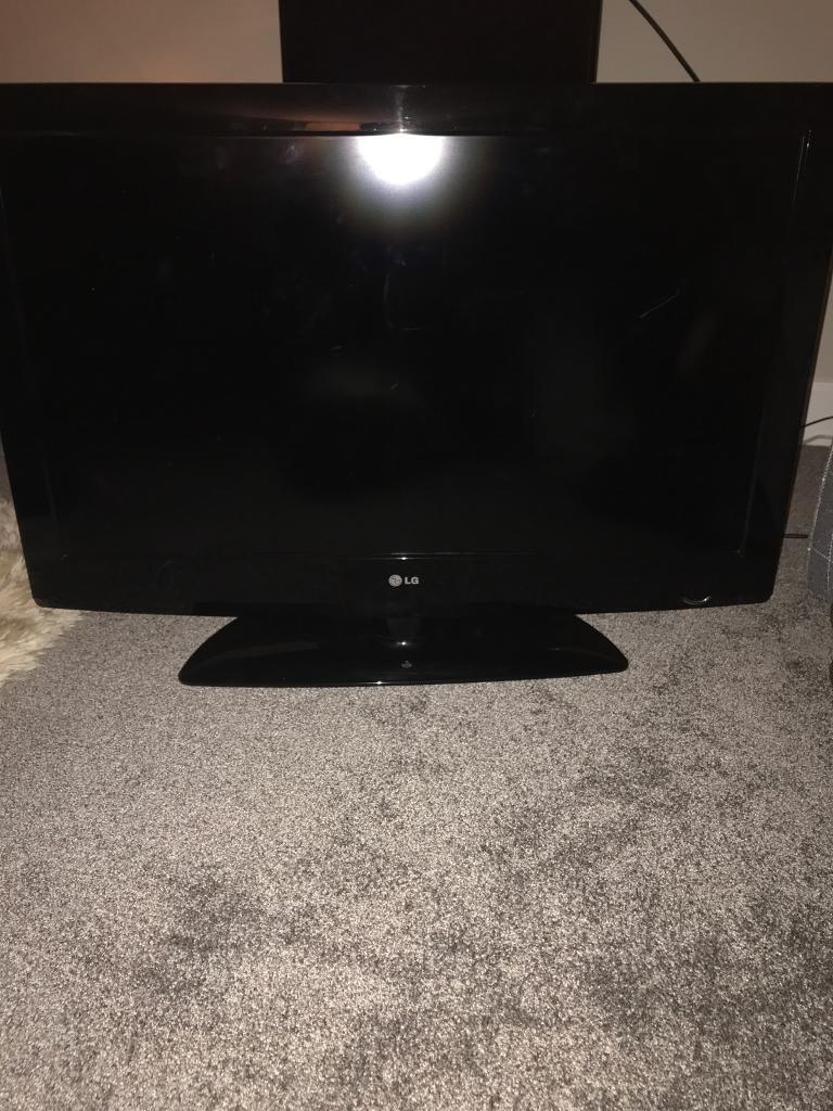 "37"" LG TV with stand"