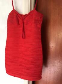 Red party dress size 10