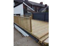 Fencing & decking plastering,