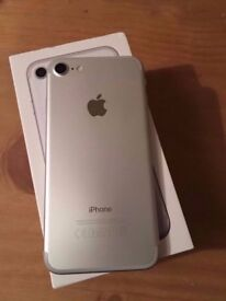 iPhone 7 128 gb silver unlocked. Boxed. Less than a year old excellent condition