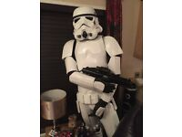 SDS Battle Spec Stormtrooper Full Armour, Boots, Helmet, Blaster and Mannequin