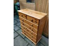 £65 large pine chest of drawers farmhouse shabby chic project