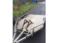 Heavy duty steel trailer. Quad, bikes etc