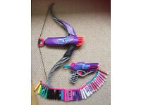 Nerf Rebelle gun and bow with pellets