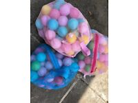 3 BAGS OF MULTI COLOURED PLAY BALLS FOR BALL PITS, PADDLING POOLS ETC
