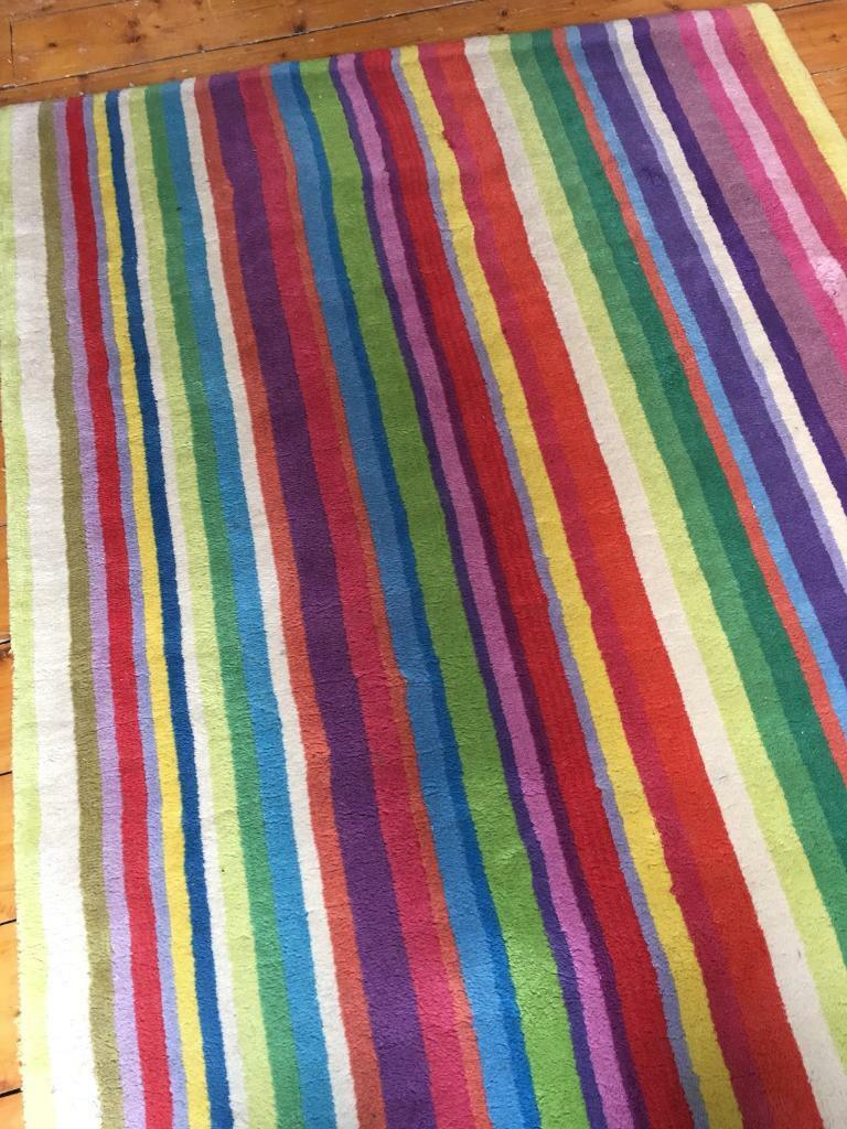 Ikea Strib Rainbow Striped Rug For