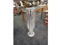 Silver mosaic large vase