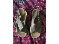 Never worn. Size 5 Clarks sandals