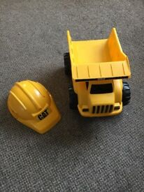 Children's CAT builders hat and tipper truck