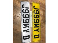 J999 MYD JIMY Jim Jimy James private cherished personal personalised registration plate number