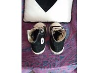 Boys Leather Jacket age 4/5 & black converse boots size c8
