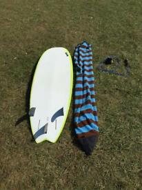 """Torq 6""""3"""" soft top used surf board"""