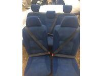 Scudo Expert Dispatch 04-06 E7 Taxi Seats X5 sliding rear bench & individual seats